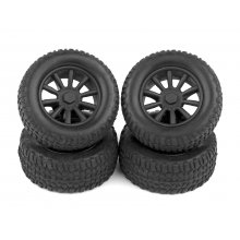 Associated  SC28 Wheels and Tires, Mounted