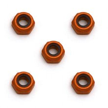 Associated 4-40x3/16 min Alum. Lock Nuts, 5 pcs