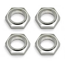 Associated  SC8 Nyloc Wheel Nuts, Silver