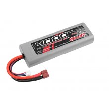 4000mAh 7.4v 2S 30C Hardcase Sport Racing LiPo Battery with Hardwired T-Plug Connector