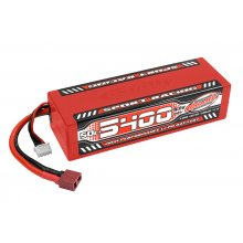 5400mAh 11.1v 3S 50C Hardcase Sport Racing LiPo Battery with Hardwired T-Plug Connector