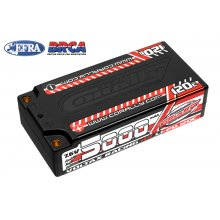 5000mAh - 7.6v 2S Voltrax Shorty Hardcase Lipo Battery - 4mm Bullets