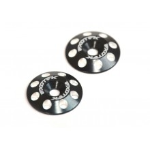 Aluminum Wing Buttons V2, BLK, 1 pair
