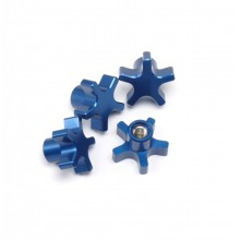 5MM 5 Star Hub Nuts, Blue, T/E-MAXX and others