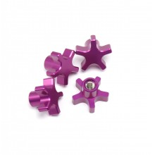 5MM 5 Star Hub Nuts, Purple, T/E-MAXX and others