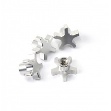 5MM 5 Star Hub Nuts, Silver, T/E-MAXX and others