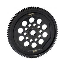 Hardened Steel Spur Gear, 87 Tooth / 48 Pitch, for Associated T4/B4/Enduro