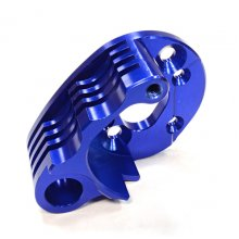 Billet Machined Alloy Heatsink Motor Mount, TRX Summit, Blue