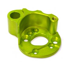 Billet Machined Alloy Heatsink Motor Mount, TRX Summit, Green