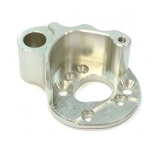 Billet Machined Alloy Heatsink Motor Mount, TRX Summit, Silver