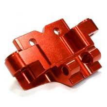 Billet Machined Front Lower Suspension Arm Mount, Red, Axial 1/10th Yeti