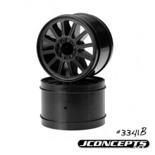 "Relux 2.8"" Rear Wheels, E-Stampede/Rustler, Black. 1 pr"