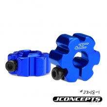 Alum. Ultra Rear wheel hexes, Blue, RC10B5/B5M