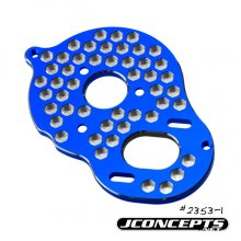 Aluminum Motor Mount, Honeycomb, Blue, 4 Gear RC10B5/B5M/T5M