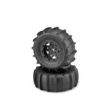 Animal 1/10 Short Course Truck Paddle Tires Mounted on Tremor Wheels, Yellow Compound