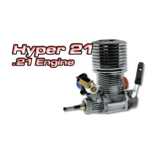 Hyper .21 Nitro Engine - PS, SlideValve, R-Exh, FOR PARTS