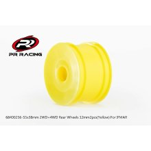 55x38mm 2WD+4WD Rear Wheels 12mm*2pcs(Yellow)For IFMAR