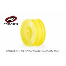 "26x38mm 4WD Front Wheel 12mm*2pcs(Yellow), IFMAR(2.15"") Bead"