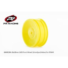 2WD Front Wheel 12mm*2pcs(Yellow)For IFMAR, 26x38mm