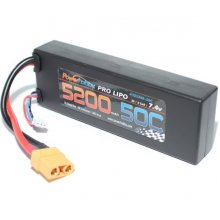 Powerhobby  5200mAh 7.4V 2S 50C LiPo Battery w/ Hardwired XT90 Connector