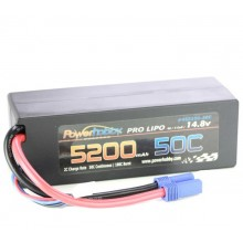 5200mAh 14.8V 4S 50C LiPo Battery with Hardwired EC5 Connector