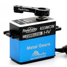 Powerhobby 633MCW High Voltage Waterproof Coreless Steel Gear Servo, w/ Aluminum Case