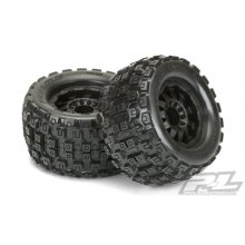 "Badlands MX38 3.8"" All Terrain Tires Mounted on F-11 Black 1/2"" Offset 17mm Wheels"