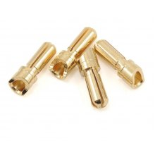 3.5mm Super Bullet Gold Connectors (2 Male / 2 Female)