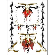 Skulls and Barbed wire Decal Sheet