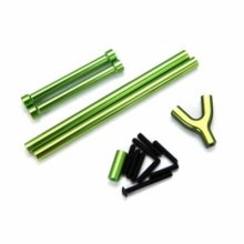 Alloy Complete Front & Rear Upper Susp. Links, Green, SCX10