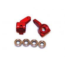 Front Knuckles, Aluminum, W/ Bearings, Slash 2wd- Red