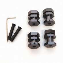 17mm Hex Conversion Kit, Gun Metal, Slash/Rustler/Bandit