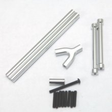 Aluminum Front & Rear Upper Links, SCX10, Silver