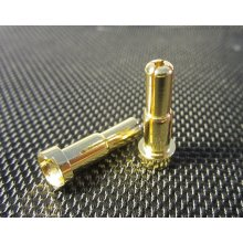 4mm + 5mm Double Male Bullets (pr.) Gold 20mm