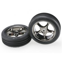 "Ribbed 2.2"" Tires/ Tracer 2.2"" Wheels Mounted, Bandit, Med. Compound"