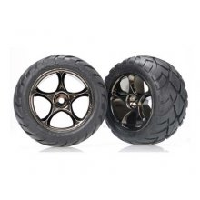 "Anaconda 2.2"" Tires/ Tracer Blk Chrome Wheels, Mounted, Pin Mnt"