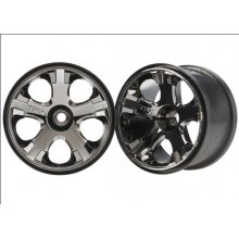 Traxxas All Star Wheels, 2.8 Black Chrome Nitro Front