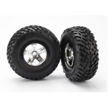 Tire & Wheel assembly, Mnted, Black Beadlock, Slash 2wd Ft