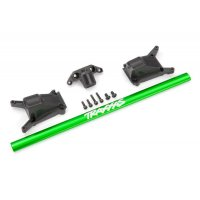 Chassis brace kit, green (fits Rustler® 4X4 or Slash 4X4 models equipped with Low-CG chassis)