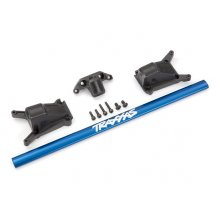 Chassis brace kit, Blue (fits Rustler® 4X4 or Slash 4X4 models equipped with Low-CG chassis)