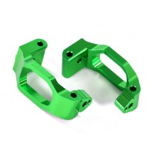 Caster blocks (c-hubs), 6061-T6 aluminum (green-anodized), left & right/ 4x22mm pin (4)/ 3x6mm BCS (4)/ retainers (4)