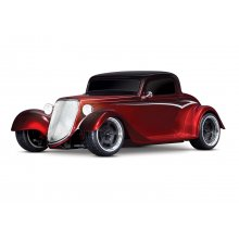 1/10 scale Factory Five replica Hot Rod with 1935 Truck, Silver