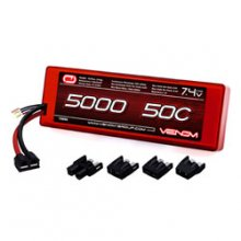 Venom 50C 2S 5000MAH 7.4V Sport Power LIPO Battery Roar - Uni Conn