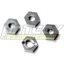 Alloy Hex Wheel Hub for Savage .21/.25/SS, SILVER