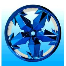 Ninja Blue Chrome Rims, Fits Maxx/Savage