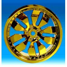 Dealer Gold Chrome Rims, Fits Maxx/Savage